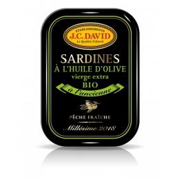 Sardines à l'Huile d'Olive BIO Millésimées 2018