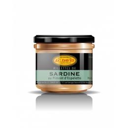 Rillettes de Sardines 60% au Piment d'Espelette